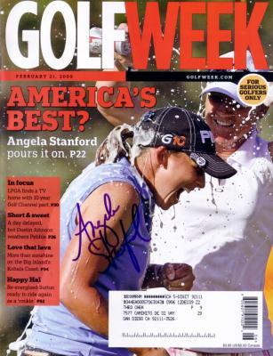 Angela Stanford autographed 2009 Golf Week magazine