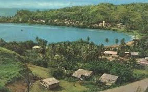 Postcard Guam; A scenic view of Guam