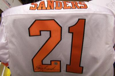 Barry Sanders autographed Oklahoma State Cowboys authentic jersey