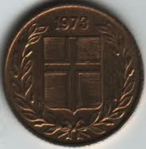 Coins; Iceland 50 Aurar 1973