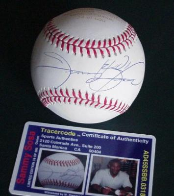 Sammy Sosa autographed 60/60 Home Run Club NL baseball