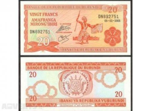 20 Burundi Franc 2005