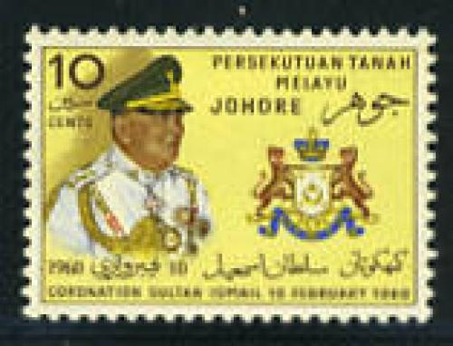 Johore, Coronation 1v; Year: 1960