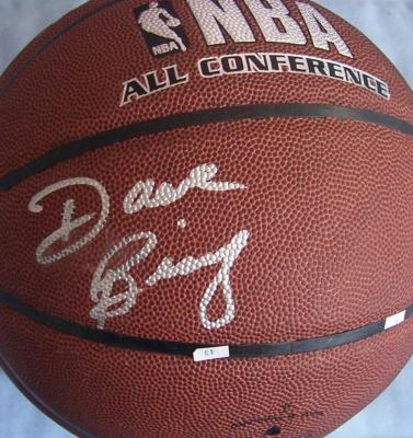 Dave Bing autographed NBA basketball