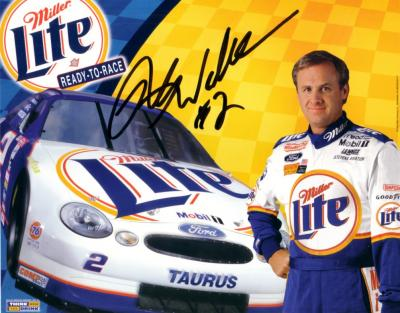 Rusty Wallace autographed 8x10 Miller Lite photo card