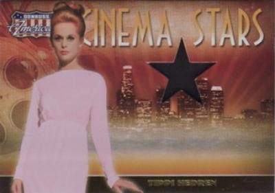 Tippi Hedren worn dress swatch Donruss Americana card #229/500