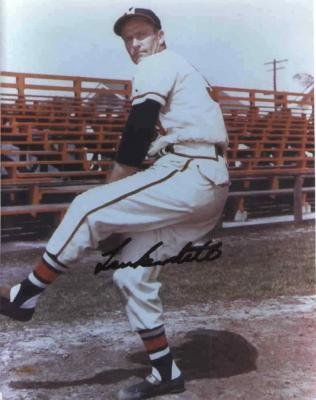 Lew Burdette autographed 8x10 Milwaukee Braves photo