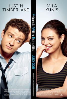 Friends with Benefits 2011 mini movie poster (Mila Kunis Justin Timberlake)