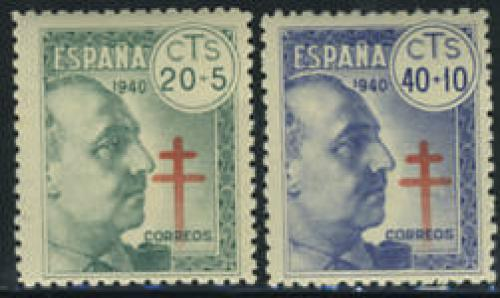 Anti Tuberculosis 2v; Year Issue: 1940; Stamps Spain