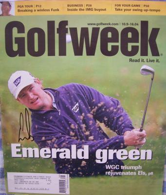 Ernie Els autographed 2004 Golfweek magazine