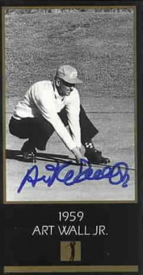 Art Wall autographed 1959 Masters Champion golf card