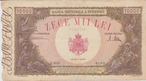 10.000 Lei 1945.