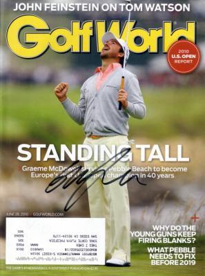 Graeme McDowell autographed 2010 U.S. Open Golf World magazine
