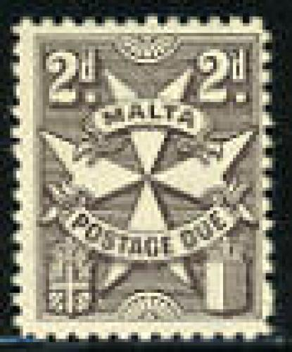 Postage due 1v; Year: 1957