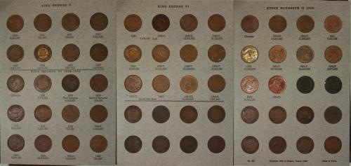 AUSTRALIA COMPLETE SET OF AUSTRALIAN HALF PENNIES (1911-1964) EXCLUDING 1923