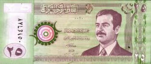 Banknotes; Republic of IRAQ 25 dinars - 2001