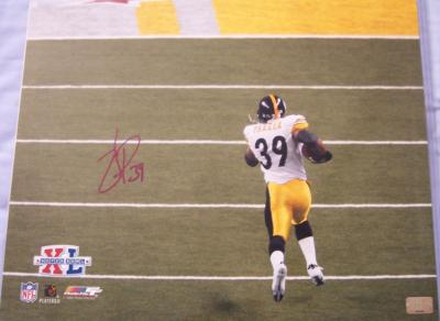 Willie Parker autographed Pittsburgh Steelers Super Bowl 40 16x20 poster size photo