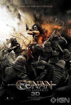 Conan the Barbarian mini 2011 movie poster (wielding sword)