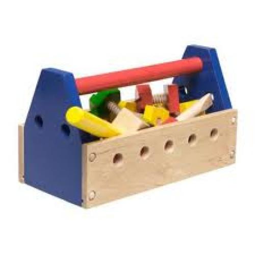 Wooden Tool Kit Toys in a Tool Box