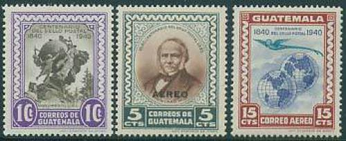 Stamp centenary 3v; Year: 1946