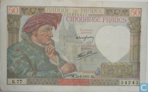 Frankreich 50 Francs 1941