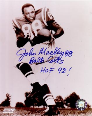 John Mackey autographed 8x10 Baltimore Colts photo