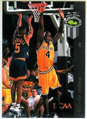 Chris Webber Michigan 1993 Classic McDonald's 4-Sport card