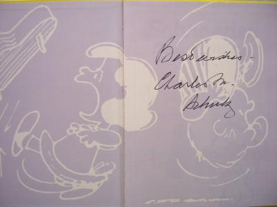 Charles Schulz autographed Peanuts Schroeder hardcover book inscribed Best Wishes