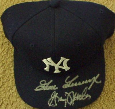 Goose Gossage & Graig Nettles autographed New York Yankees cap
