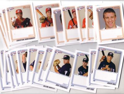 2010 AFLAC Bowman Rookie Card partial set (Javier Baez Archie Bradley Dillon Howard)