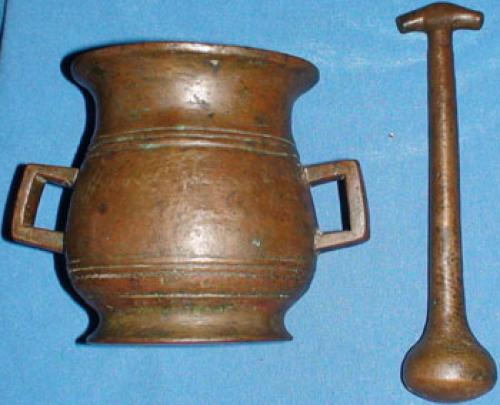 Antique Russian mortar from the 1850s