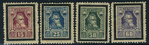 Basanavicius 4v; Year:  1927
