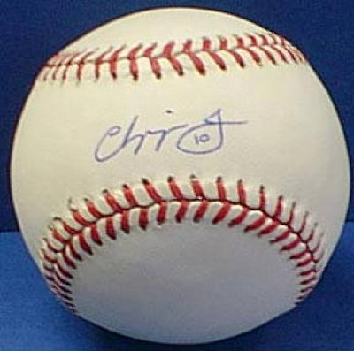 Chipper Jones autographed NL baseball