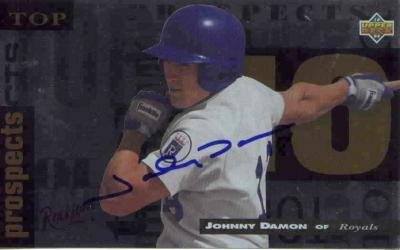 Johnny Damon autographed 1994 Upper Deck Minors jumbo card