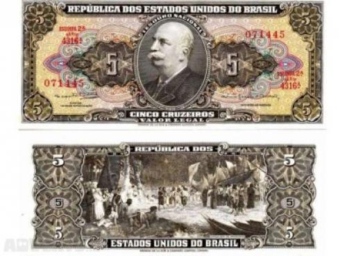 Brazil 5 Kruzeyros-1964