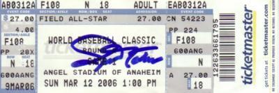 Joe Nathan autographed Team USA 2006 World Baseball Classic ticket