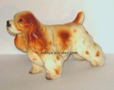 Japan Red Cocker Spaniel Dog Animal Figurine