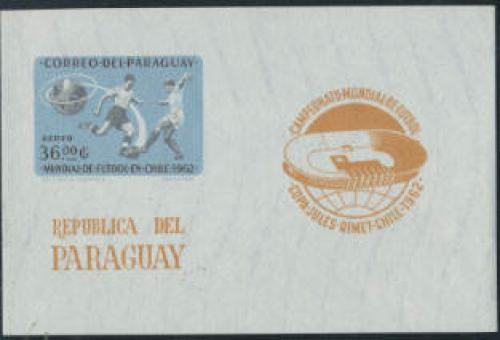 World Cup Football s/s imperforated; Year: 1962