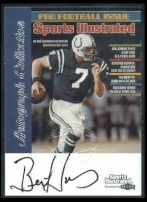 Bert Jones certified autograph Baltimore Colts Fleer Sports Illustrated card