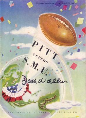 Doak Walker autographed 1948 Pitt vs SMU program