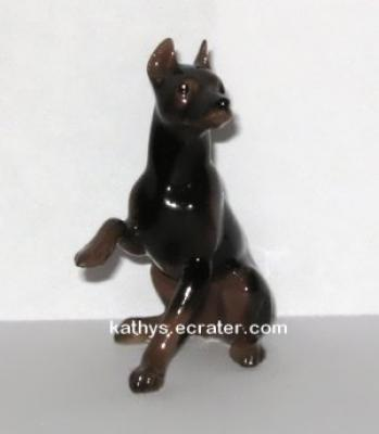 Hagen Renaker Sitting Doberman Dog Animal Figurine