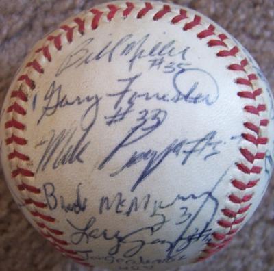 1989 Salem Dodgers (Mike Piazza) autographed Northwest League baseball