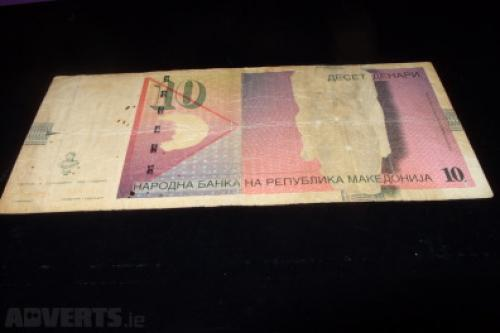 Macedonia-10 Denara-1996