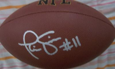 Phil Simms autographed NFL replica football