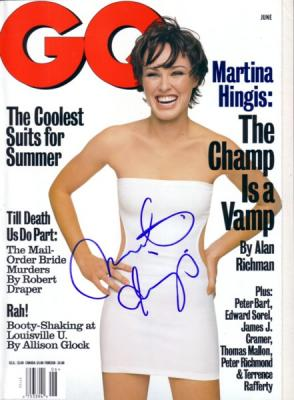 Martina Hingis autographed 1998 GQ magazine (full name signature)