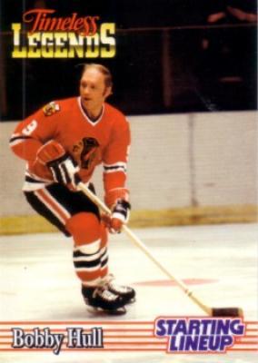 Bobby Hull Blackhawks 1995 Kenner Starting Lineup Timeless Legends card