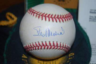 Stan Musial autographed NL baseball (UDA)