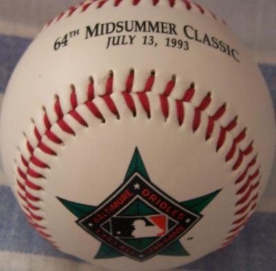 1993 All-Star Game (Baltimore) commemorative baseball