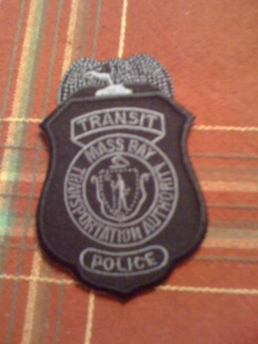 Massachusetts Transit Police hat badge, MBTA  POLICE, Mass