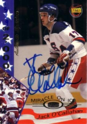 Jack O'Callahan certified autograph 1980 Miracle on Ice Signature Rookies card